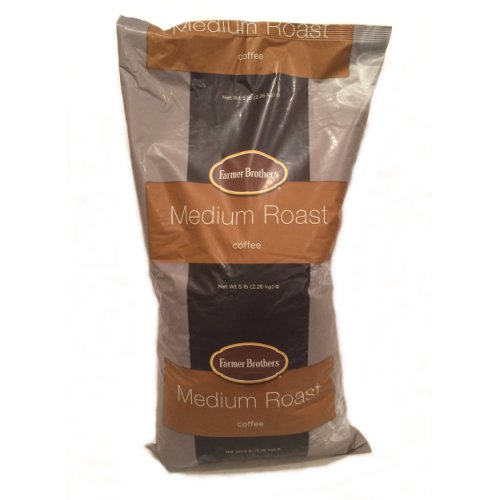 Farmer Brothers Ground Coffee, Medium Roast , 5 Lb Bag-Pack of 2