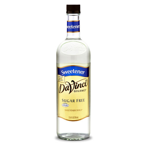 Da Vinci SUGAR FREE Sweetener Syrup(formally Sugar Free Simple Syrup) , 750 ml PET